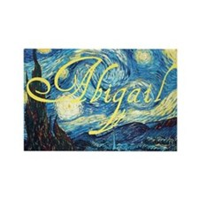 Abigail Starry Night Rectangle Magnet