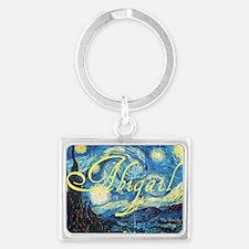 Abigail Starry Night Landscape Keychain