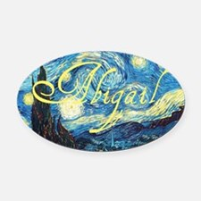 Abigail Starry Night Oval Car Magnet