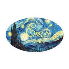 Emily Starry Night Oval Car Magnet