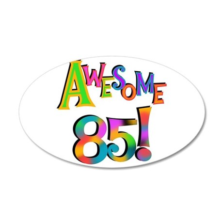 awesome 85 birthday wall sticker by peacockcards awesome decal wall sticker by admin cp30669868