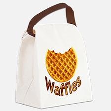 Waffles Canvas Lunch Bag