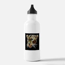 Leopard Cat Head Water Bottle