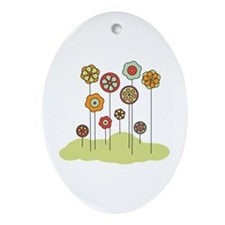 Spring Flowers Ornament (Oval)