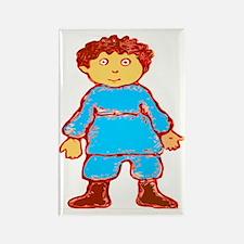 vintage cartoon boy Rectangle Magnet