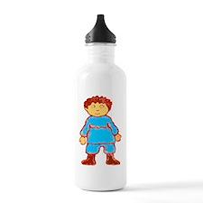 vintage cartoon boy Water Bottle