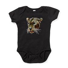 Cat Leopard Head Baby Bodysuit
