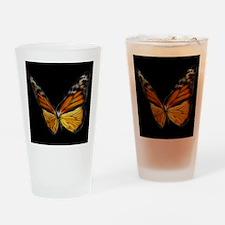 Monarch Orange Butterfly Drinking Glass