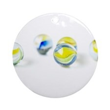 Colorful Marbles Ornament (Round)