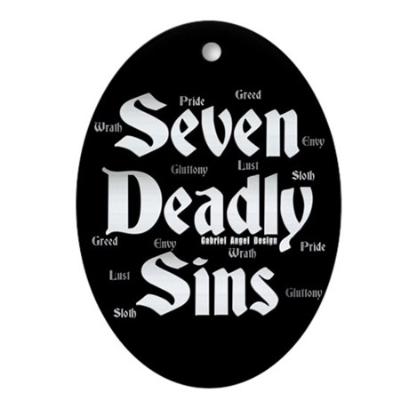 The Seven Deadly Sins Oval Ornament