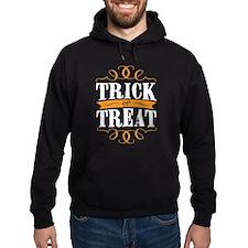 Trick or Treat elegant white Hoodie