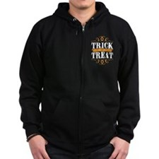 Trick or Treat elegant white Zip Hoodie