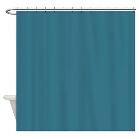 Teal Blue Shower Curtain By Makanahele1