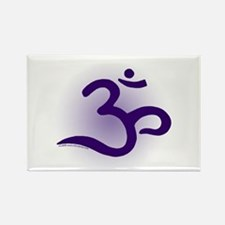 Purple OM Rectangle Magnet