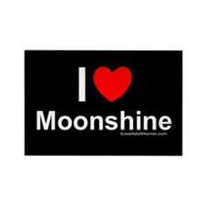 Moonshine Rectangle Magnet