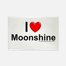 Moonshine Rectangle Magnet