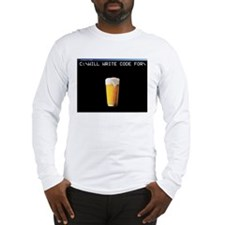 Will Write Code For Beer Long Sleeve T-Shirt