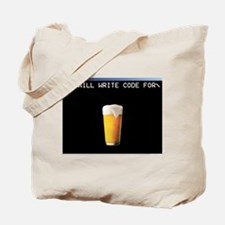 Will Write Code For Beer Tote Bag