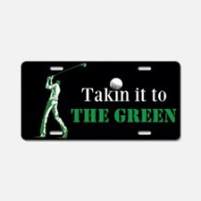 To The Green Golf Aluminum License Plate