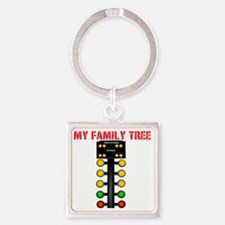 Racing Family Square Keychain