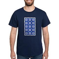 Blue Snowflake Navy Blue T-Shirt