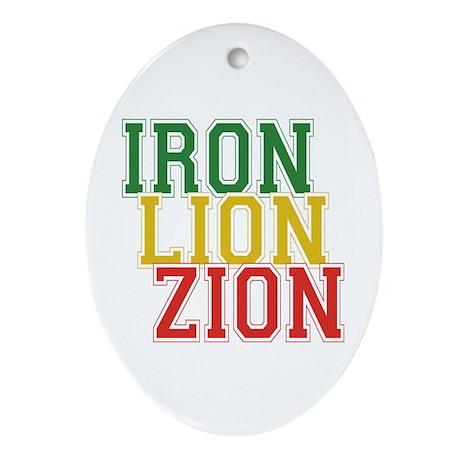 Iron Lion Zion Oval Ornament