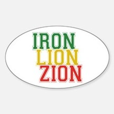 Iron Lion Zion Oval Decal