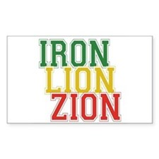 Iron Lion Zion Rectangle Decal