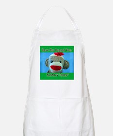 Hugged Monkey? BBQ Apron