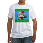Hugged Monkey? Fitted T-Shirt