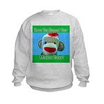 Hugged Monkey? Kids Sweatshirt