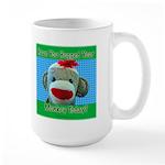 Hugged Monkey? Large Mug