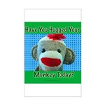 Hugged Monkey? Mini Poster Print