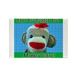 Hugged Monkey? Rectangle Magnet (100 pack)