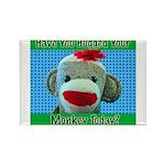 Hugged Monkey? Rectangle Magnet