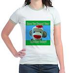 Hugged Monkey? Jr. Ringer T-Shirt