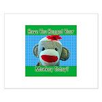 Hugged Monkey? Small Poster