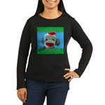 Hugged Monkey? Women's Long Sleeve Dark T-Shirt