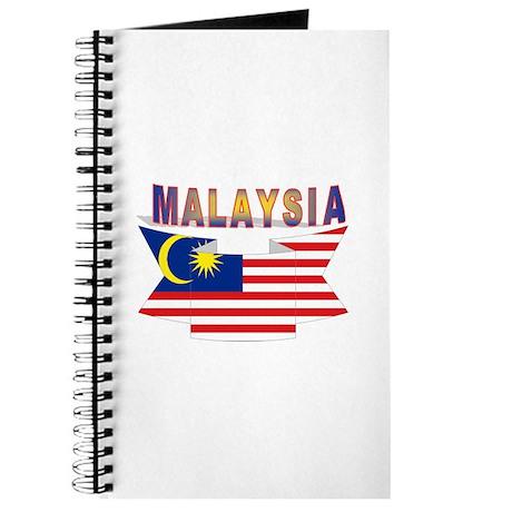 Malaysia flag ribbon Journal