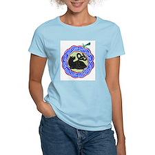 black cat & dragonfly Ash Grey T-Shirt