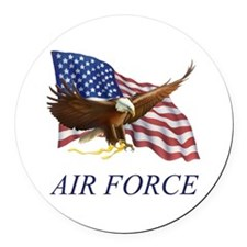 AUSAIRFORCE.png Round Car Magnet