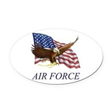 AUSAIRFORCE.png Oval Car Magnet