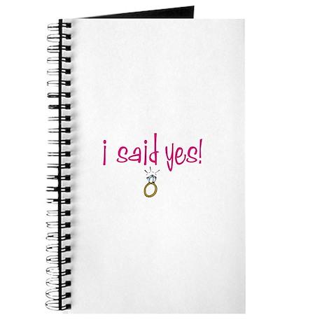 I said Yes! Journal