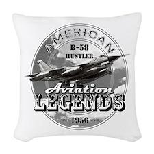 B-58 Hustler Bomber Woven Throw Pillow