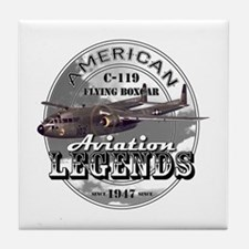 C-119 Flying Boxcar Tile Coaster