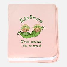 Sisters-Blonde baby blanket
