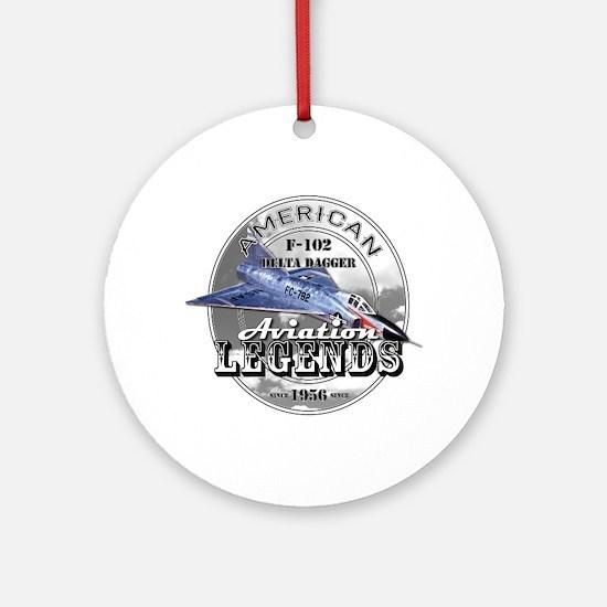 F-102 Delta Dagger Ornament (Round)