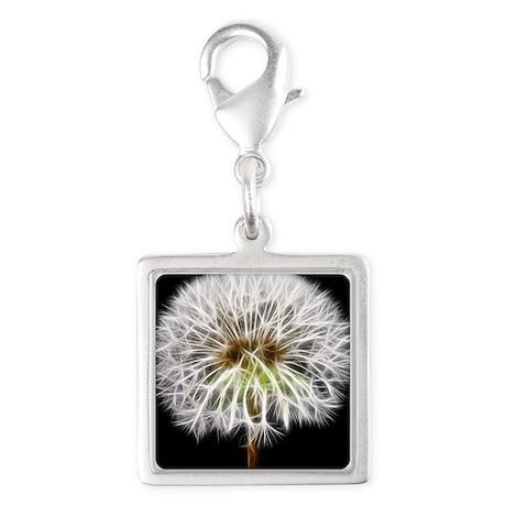 White Dandelion Flower Plant Charms