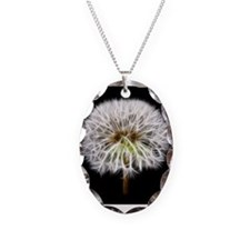 White Dandelion Flower Plant Necklace