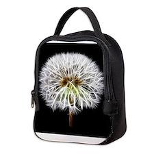 White Dandelion Flower Plant Neoprene Lunch Bag